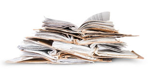 Stack Of Open Old Files Royalty Free Stock Image