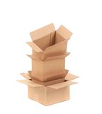 Stack of opened cardboard boxes. Royalty Free Stock Photos