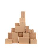 Stack of opened cardboard boxes. Stock Photography