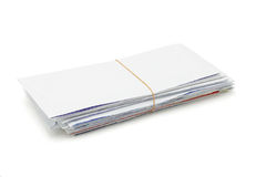 Stack of opened envelopes Stock Photo