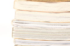 Stack of opened magazines Royalty Free Stock Photography
