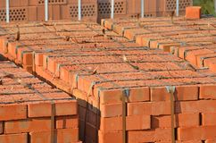 Stack of orange brick Royalty Free Stock Photos