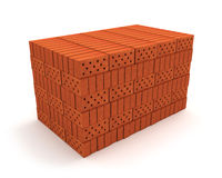 Stack of orange bricks Royalty Free Stock Photo
