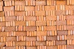 Stack of orange bricks Stock Photos