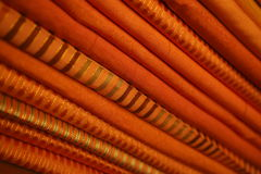 Stack of Orange Fabric Stock Photos