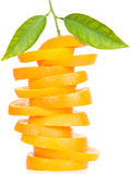 Stack of orange fruit slices Stock Photo
