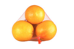 Stack of orange isolated on white. Stock Images