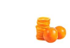 Stack of orange slices Royalty Free Stock Photo