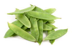 Stack of organic green beans Stock Images