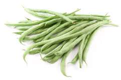 Stack of organic green beans Stock Photo