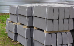 Stack of packed border stones Stock Photography