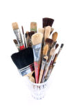 Stack of Paintbrushes Stock Photos