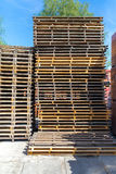Stack of palettes Royalty Free Stock Photo