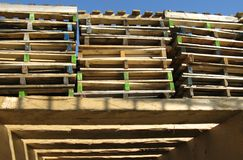 A stack of pallets Royalty Free Stock Image