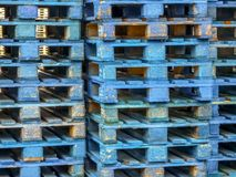 Stack of Pallets Royalty Free Stock Photography