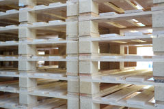 Stack of pallets Royalty Free Stock Image