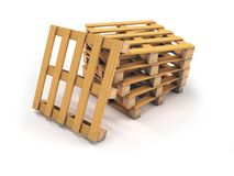 Stack of pallets Stock Image