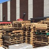 Stack of pallets Stock Photography