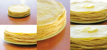 Stack of pancake with butter Royalty Free Stock Photography