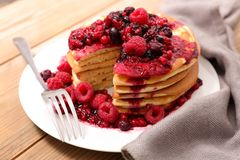 Stack of pancake Royalty Free Stock Photos