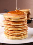 Stack of pancake and syrup Royalty Free Stock Images