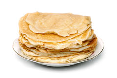 The stack of pancakes Stock Photography