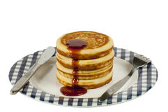 Stack of pancakes. Isolated on a white background Stock Image