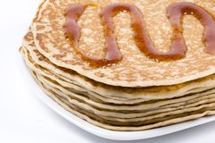 Stack of pancakes. A picture of a stack of pancakes royalty free stock images