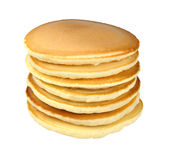 Stack of pancakes. Isolated on white background Royalty Free Stock Photos