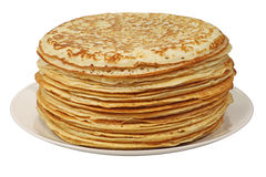 A stack of pancakes. stock photography