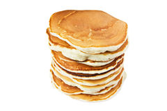 A stack of pancakes. Isolated on white background Stock Photo