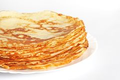 Stack of pancakes Royalty Free Stock Images