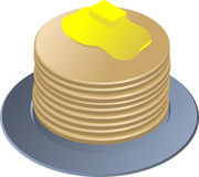 Stack of pancakes Royalty Free Stock Photo