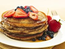 Stack of pancakes Stock Photo