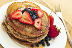 Stack of pancakes Royalty Free Stock Image