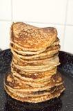 Stack of Pancakes. In baking pan Royalty Free Stock Image