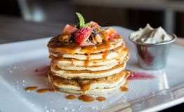 Stack of pancakes Stock Images