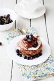 Stack of pancakes with berries Royalty Free Stock Image
