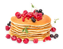 Stack of pancakes with berries Stock Image