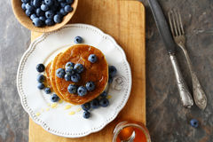 Stack pancakes with berry Royalty Free Stock Images