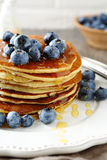 Stack pancakes with berry Royalty Free Stock Photography