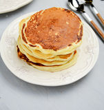 Stack of pancakes, close up Royalty Free Stock Photo