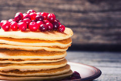 A stack of pancakes with cranberries Stock Image