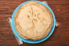 Stack of pancakes or crepe Stock Image
