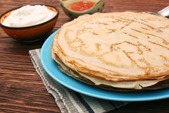 Stack of pancakes or crepe Royalty Free Stock Photos