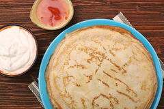 Stack of pancakes or crepe Stock Photo