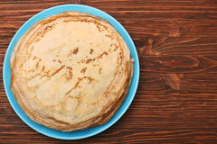 Stack of pancakes or crepe Stock Photos