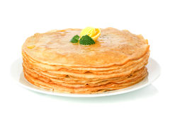 Stack of pancakes. crepes stock images