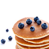Stack of pancakes with fresh blueberries Royalty Free Stock Photography