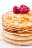 Stack of pancakes with honey Stock Image